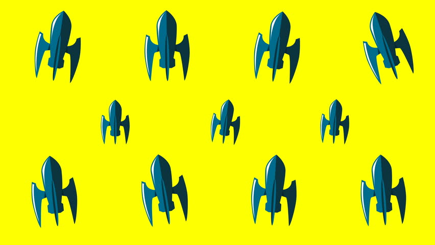 Animated background with space rockets | Shutterstock HD Video #1025823008