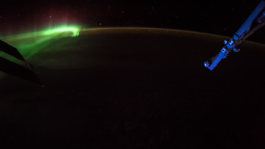 Planet Earth seen from the International Space Station with Aurora Borealis over the earth from UK to Indian Ocean, Time Lapse 4K. Images courtesy of NASA Johnson Space Center. | Shutterstock HD Video #1025827688