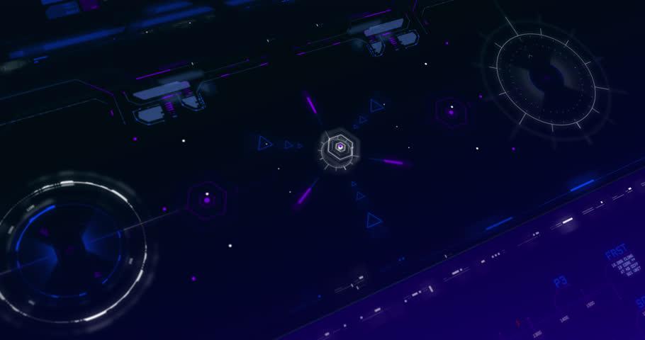 FUI HUD Design 4K UI UX Animation | Shutterstock HD Video #1025863478