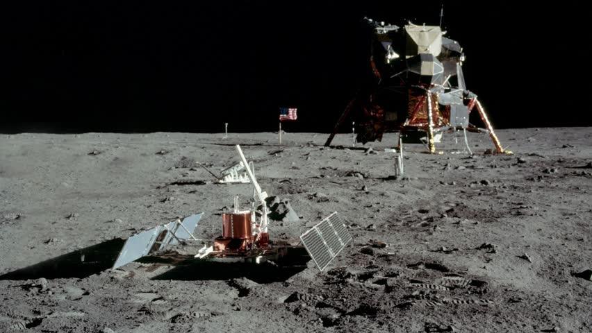 Astronaut walking on the moon. | Shutterstock HD Video #1025864888