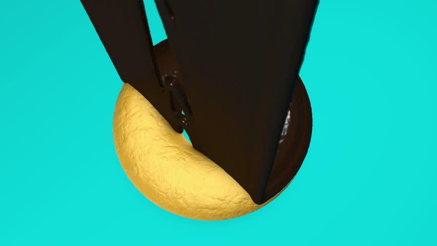 3d animation of glazed donut.   Shutterstock HD Video #1025866658