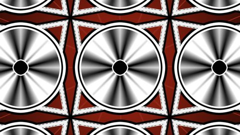Animation: Heavily stylized / abstract film spool spins until it reaches end