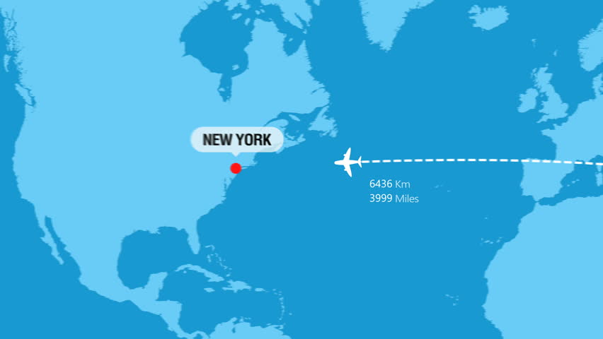 Istanbul to New York Flight Travel Route