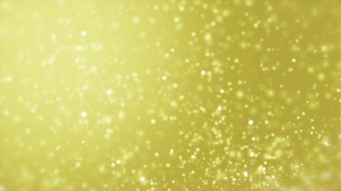 Elegant gold background abstract with snowflakes. Christmas animated yellow background. White glitter - winter theme. Seamless loop.