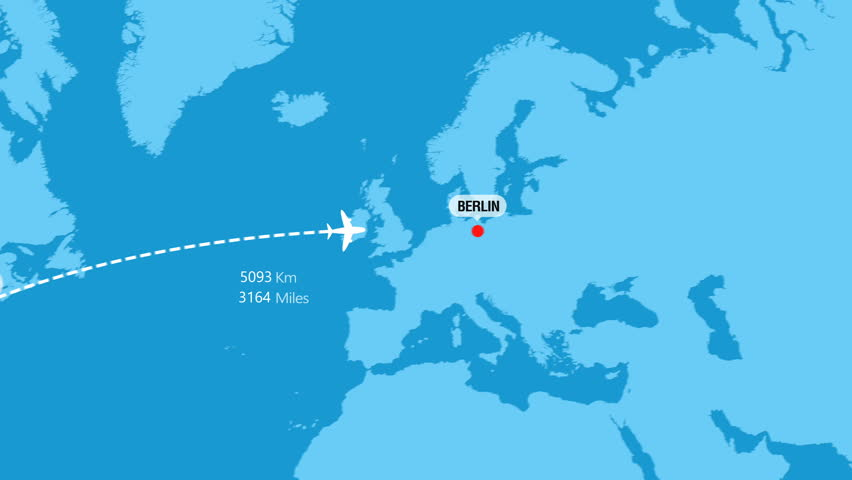 New York to Berlin Flight Travel Route