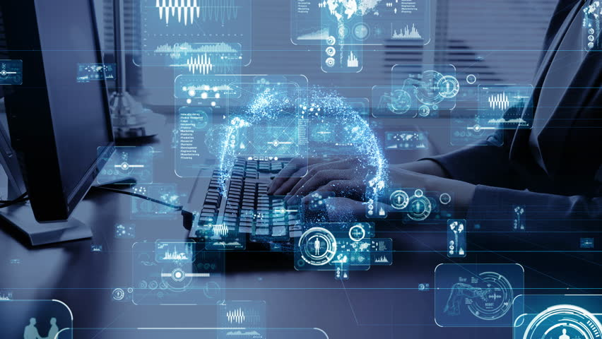 Business network concept. IoT (Internet of Things. Cloud computing.   Shutterstock HD Video #1026097568