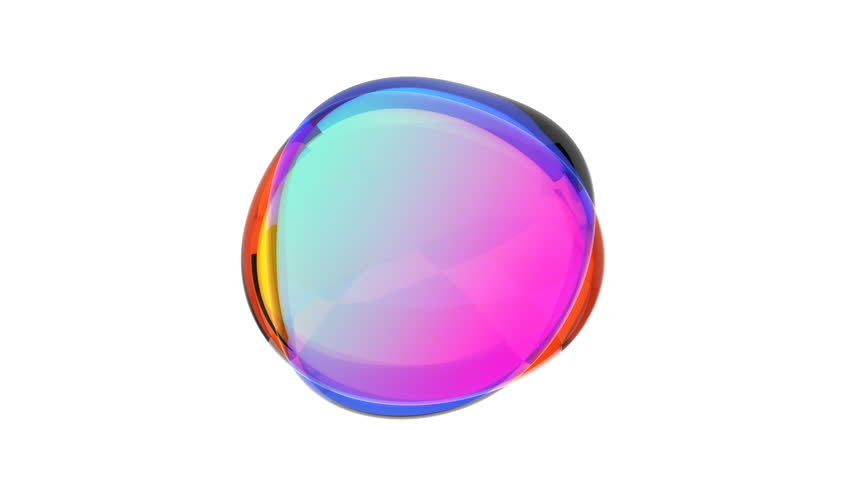 Abstract 3d animation, colored bubble, motion design, 4k seamless looped video | Shutterstock HD Video #1026176258