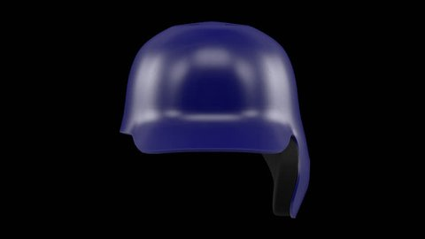 Classic Baseball Helmets isolated on background. Sport 3d render 360 degrees looped rotation with alpha channel.