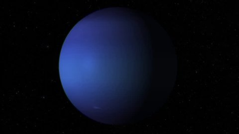 Solar System - Neptune  it Stock Footage Video (100% Royalty