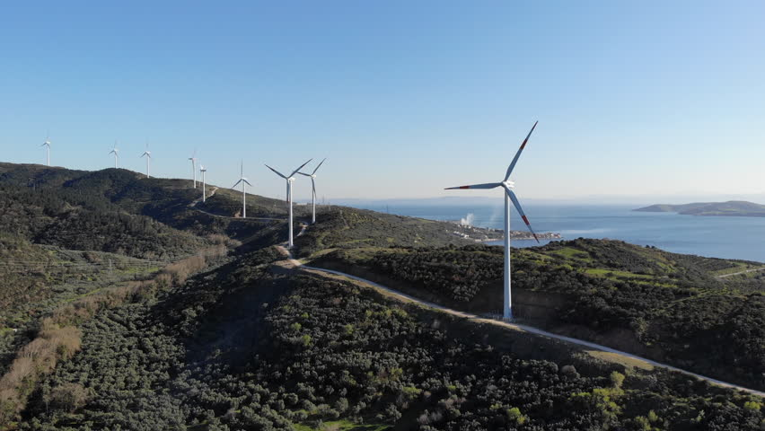 Electricity Production from the Wind Turbine | Shutterstock HD Video #1026350738