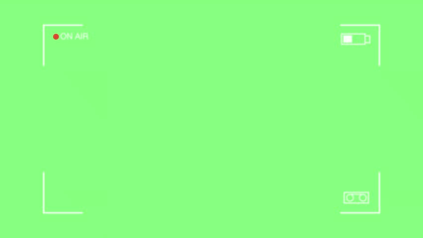 Camcoder frame on the green background  | Shutterstock HD Video #1026424028