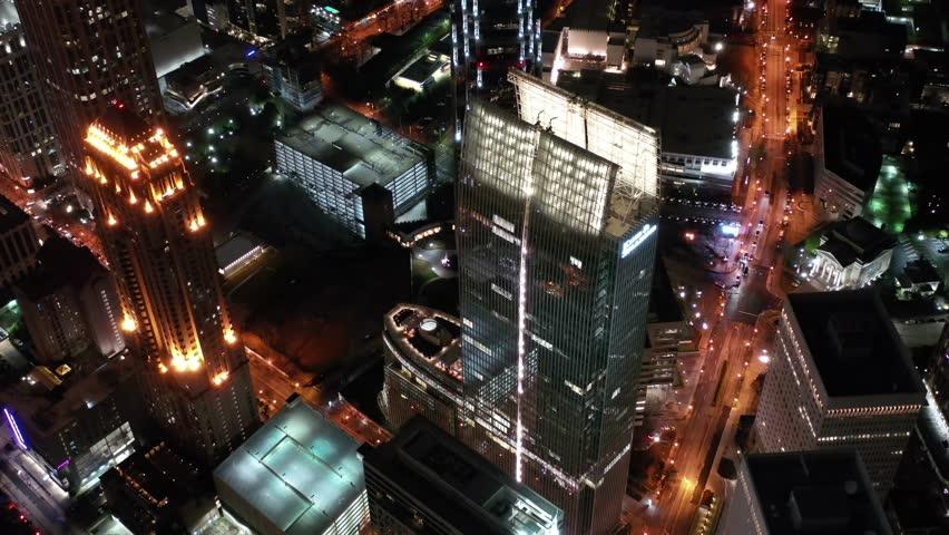 Atlanta, Georgia / USA - March 1 2019 : Aerial of the Sights and Landmarks in Downtown Atlanta, Georgia | Shutterstock HD Video #1026515498
