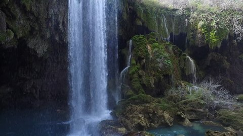 Yerkopru Waterfall is a waterfall in Mut district of Mersin Province, southern Turkey. It is a registered natural monument.