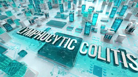 Lymphocytic Colitis with medical digital technology concept