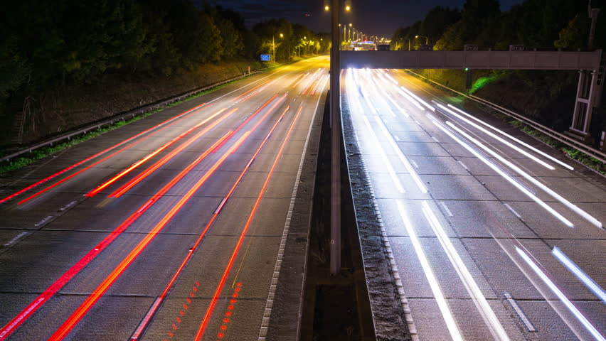 Time Lapse of Cars Traffic on London Orbital motorway M25 at Night | Shutterstock HD Video #1026719678