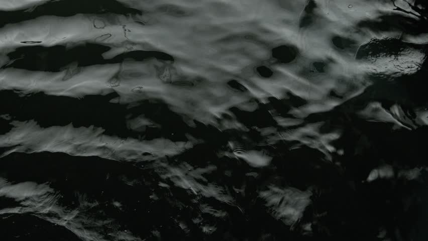 Calming black water waves from above. 4K shot of real water for compositing, motion graphics, or background.