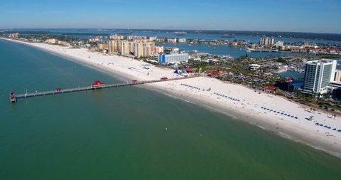 Tampa City Coast, Beach, Skyline by Aerial Drone, Florida