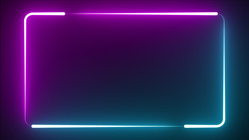 Neon Glow Frame Background Stock Footage Video 100