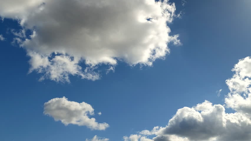 Clouds on a blue spring sky | Shutterstock HD Video #1027211498
