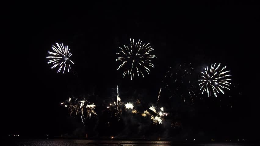 Fireworks in the night sky. | Shutterstock HD Video #1027372148