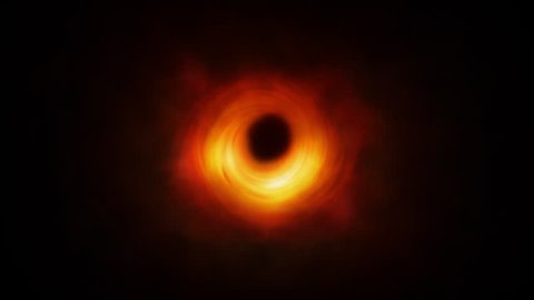CGI OF A BLACK HOLE BASED ON THE FIRST BLACK HOLE IMAGE BY EVENT HORIZON TELESCOPE 4K