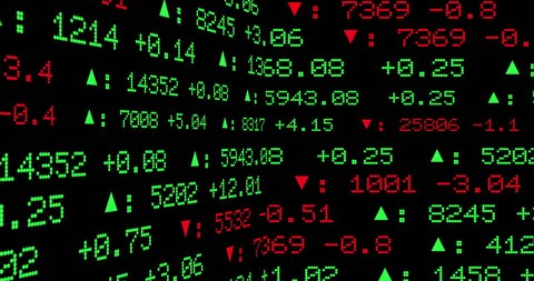 Display of Stock Exchange 2D Animation