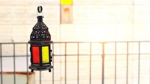 Ramadan Kareem and eid al fitr flying Lanterns Egyptian Fanoos. Lanterns/Arabic lamp fanoos for Ramadan Kareem /Eid al Fitr Mubarak, Translated: Happy & Holy Ramadan