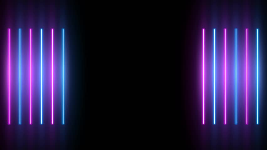 Neon background. Purple and blue neon background appears and disappears. Bright live neon background. Ver.No 1. 4k. See other versions in my portfolio