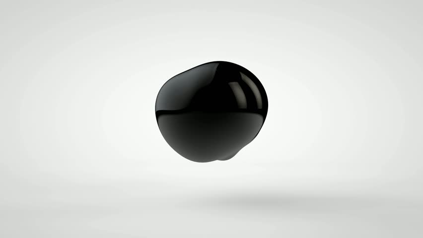 3D animation of a plurality of drops of black oil, flying and fusing. | Shutterstock HD Video #1027800218