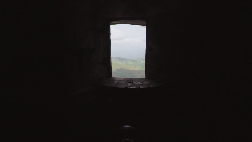 Shot from Darkness of Interior toward and through Light of Open Window in Citadel Laferriere, Haiti
