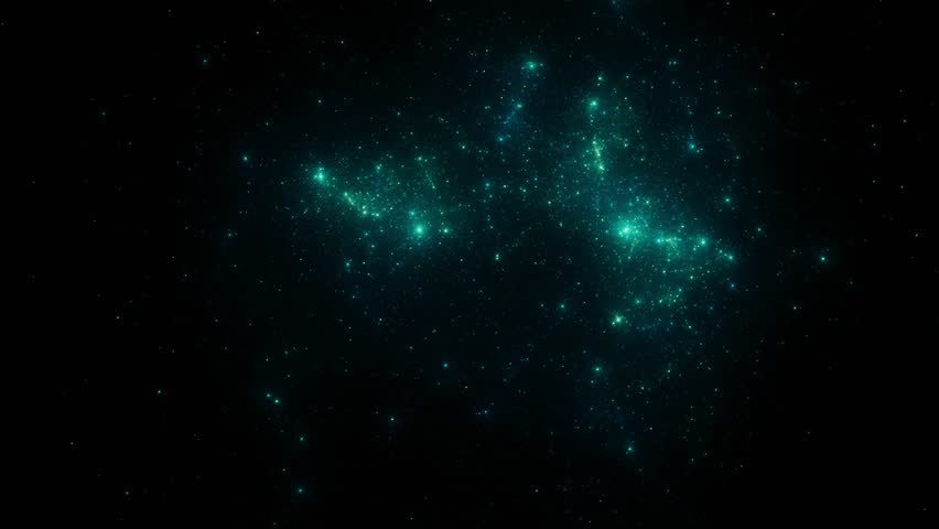 Stars fly past the viewer against a backdrop of clouds and gas in space. Galaxy footage. #1027939688