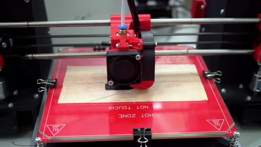 3D printer. Layer-by-layer creation of a solid object. Growing object. Material freezing during cooling. Polymeric materials. Plastic. | Shutterstock HD Video #1028015048