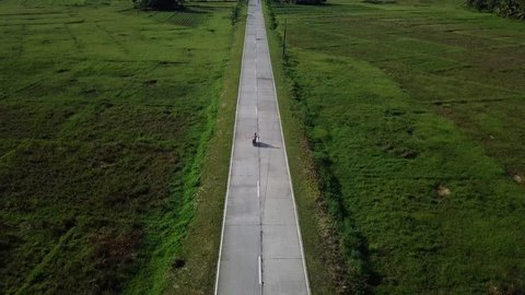 A beautiful road on Siargao Island in the Philippines.