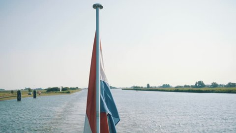 Dutch flag on the water