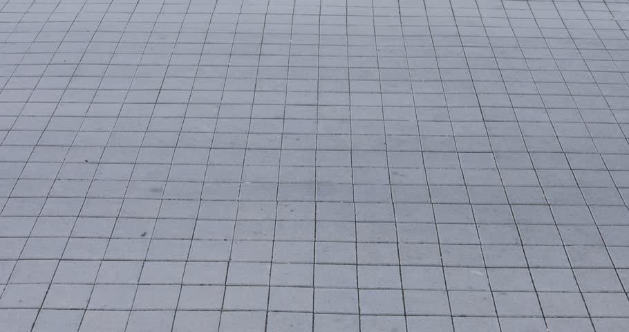 Sidewalk tiles cement concrete 4K