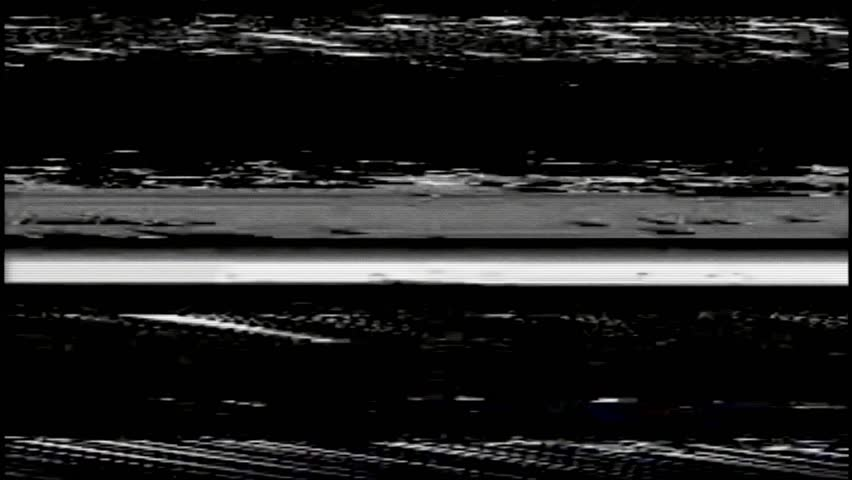 VHS Horizontal Video Glitches Background, Black screen #1028257538