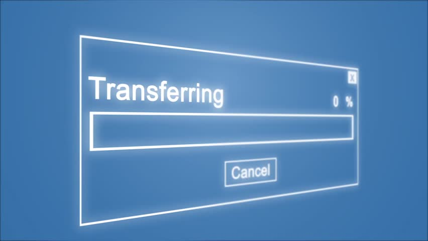 Transferring Process Animation on Blue Background | Shutterstock HD Video #1028308508