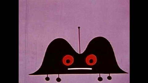 CIRCA 1950s - A car creature come down from Mars and is appalled by the behavior of drivers on Earth.