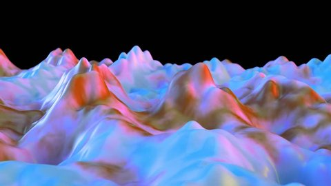 4K Abstract Jelly Background. Seamless Loop