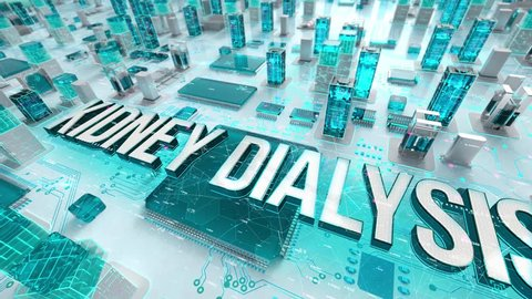 Kidney Dialysis with medical digital technology concept