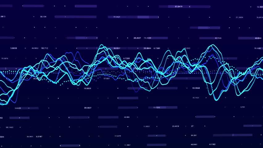 Stock market graph. Big data visualization. investment graph concept. 3d rendering.   Shutterstock HD Video #1028439068