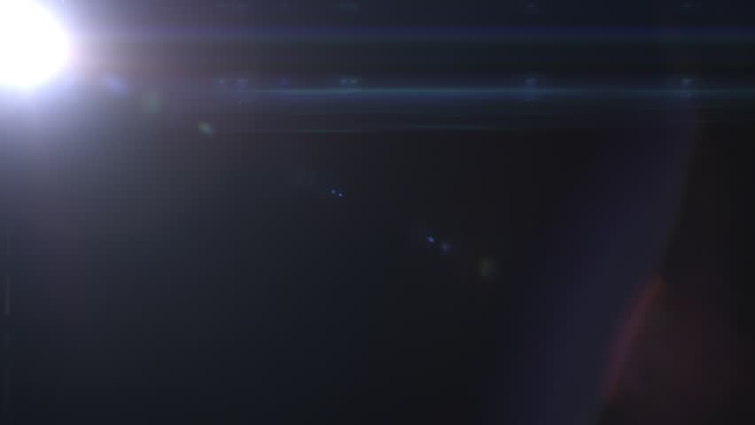 Real Lens Flare  Form Spot Light And   Anamorphic Effect  | Shutterstock HD Video #1028473928