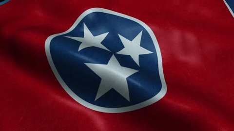Tennessee Flag Seamless Looping Waving Animation