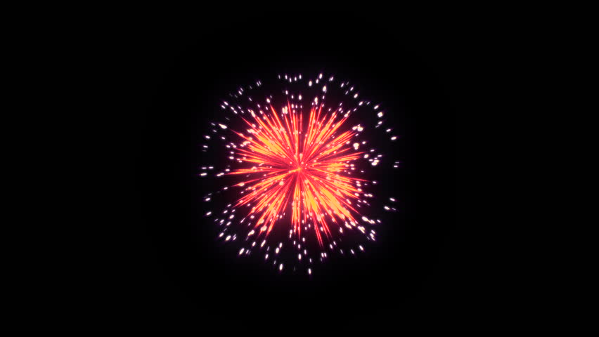 3D Abstract. Realistic animation Firework Colorful. #1028613698
