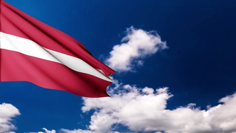 latvia flag animation. Flag of Latvia. Official Latvia flag. Latvia national day.
