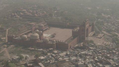 Fatehpur Sikri Abkbar's residence, India, 4k aerial ungraded/flat