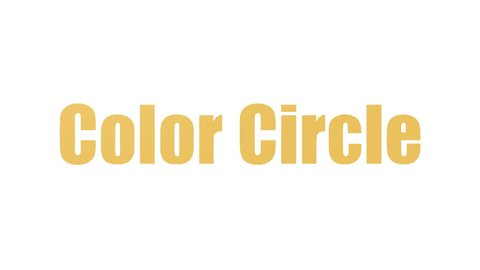 Color Circle Animated Word Cloud Isolated