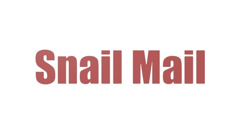 Snail Mail Tag Cloud Animated On White Background