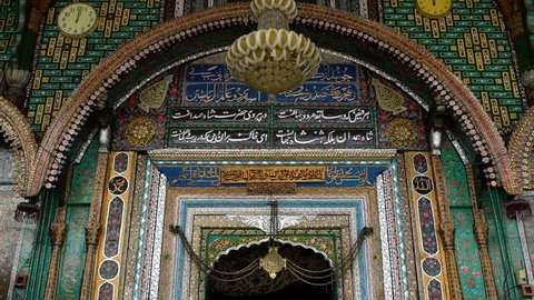 medium low angle, front side view shot of the famous Shah Hamdan Mosque, Srinagar Kashmir