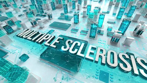 Multiple Sclerosis with medical digital technology concept